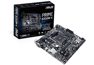 ASUS ASUS Placa base - ASUS Prime B350M-K, AMD B350, Socket AM4, Mini-ATX