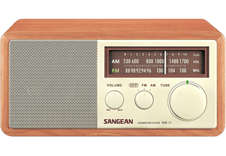 Radio portátil - Sangean WR-11, Analógica, FM, AM, Nogal