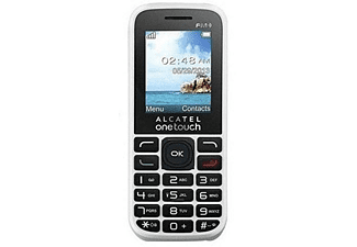 "Móvil - Alcatel 1050D, 1.8"" QQVGA, Sistema THREADX, 32MB RAM, 0.08 MPx, MicroSD, Blanco"