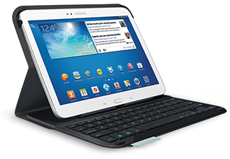 Funda para Galaxy Tab 3 10.1 Logitech Ultrathin Keyboard Folio, Bluetooth, de color negro