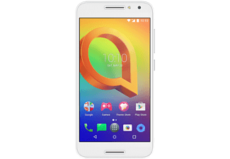 Móvil - Alcatel A3, 5 pulgadas, IPS HD, 4G, 16GB, Quad Core, Dual SIM, 13MP, Blanco