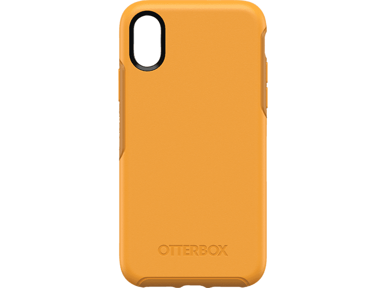OTTERBOX Symmetry , Backcover, Apple, iPhone Xs, Polycarbonat, Silikon, Gelb