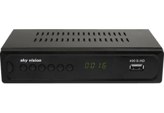 SKY VISION sky vision 400 S-HD HDTV Satellitenreceiver, Anthrazit