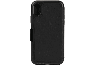 Funda - Otterbox Strada Folio, para iPhone X, Shadow, Negro