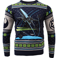NUMSKULL Star Wars X-Wing: Battle of Yavin Xmas Pullover XL Pullover, Blau