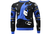 NUMSKULL Batman: In the Shadows Xmas Pullover M Pullover, Schwarz/Blau