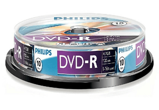 Bobina DVD-R - Philips DVD-R DM4S6B10F/00, 10 unidades, 4.7 GB