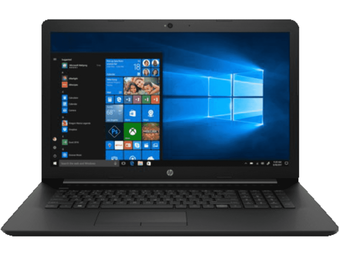 HP  17-by0334ng Notebook mit Core™ i7, 8 GB RAM, 1 TB & Radeon™ 520 in Schwarz | 00193424194049