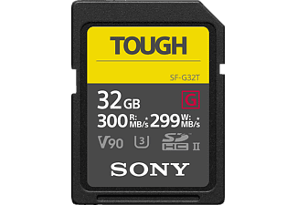 SONY Tough SDXC Speicherkarte, 32 GB, 300 MB/s, Class 10, Video Speed Class 90 (V90)