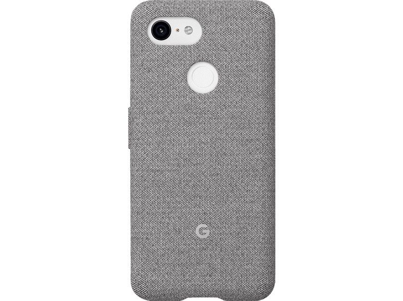 GOOGLE Fabric Backcover Google Pixel 3 Polycarbonate (PC) und Thermoplastische Elastomere (TPE) Fog