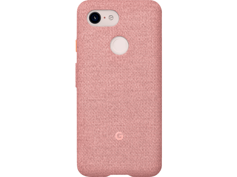 GOOGLE Fabric Backcover Google Pixel 3 Polycarbonate (PC) und Thermoplastische Elastomere (TPE) Pink Moon