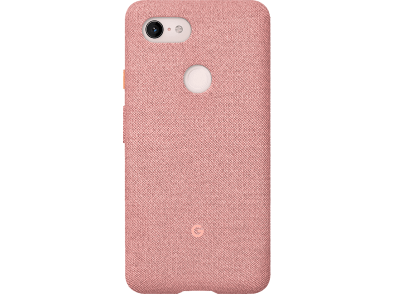 GOOGLE Fabric Backcover Google Pixel 3XL Polycarbonate (PC) und Thermoplastische Elastomere (TPE) Pink Moon