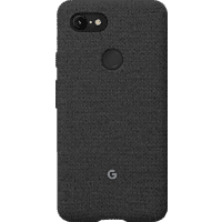 GOOGLE Fabric Backcover Google Pixel 3XL Polycarbonate (PC) und Thermoplastische Elastomere (TPE) Carbon