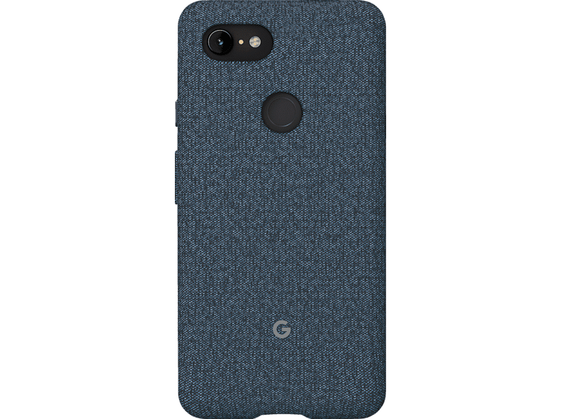 GOOGLE Fabric Backcover Google Pixel 3XL Polycarbonate (PC) und Thermoplastische Elastomere (TPE) Indigo