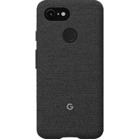 GOOGLE Fabric Backcover Google Pixel 3 Polycarbonate (PC) und Thermoplastische Elastomere (TPE) Carbon