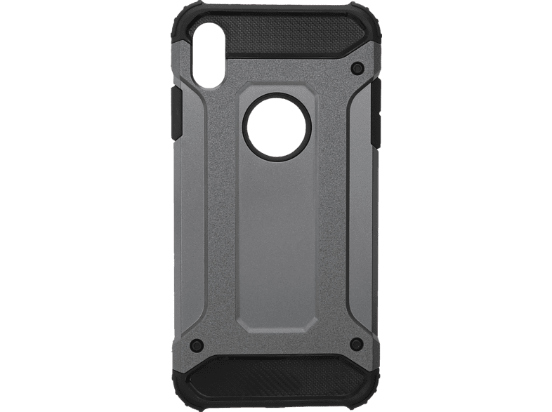V-DESIGN  VDR 066 Backcover Apple iPhone XS Max Plastik + Thermoplastisches Polyurethan Grau | 04056212037170