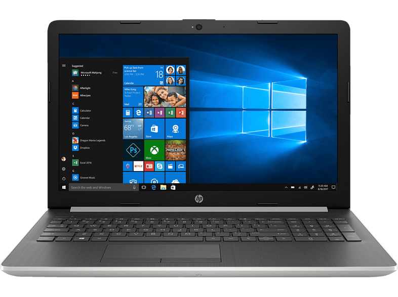 HP 15-da1310ng, Notebook, Core™ i7 Prozessor, 16 GB RAM, 1 TB HDD, 256 GB SSD, GeForce® MX130, Silber