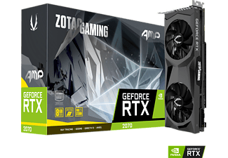 ZOTAC GeForce® RTX 2070 8GB AMP! Edition 8GB (ZT-T20700D-10P) (NVIDIA, Grafikkarte)