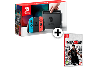 NINTENDO Nintendo Switch Red and Blue μαζί με NBA 2K19