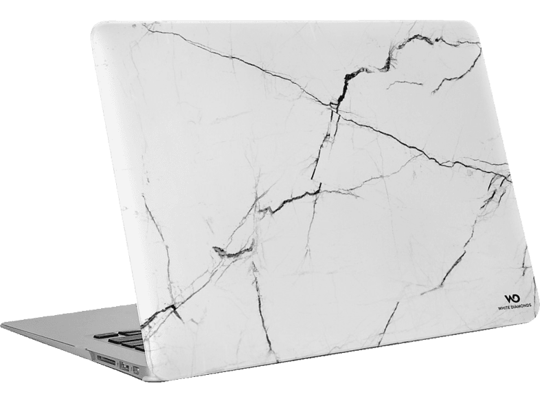 WHITE DIAMONDS Marble Notebookhülle, Backcover, Weiß