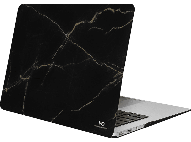 WHITE DIAMONDS  Marble Notebookhülle, Backcover, Schwarz | 04260557042328