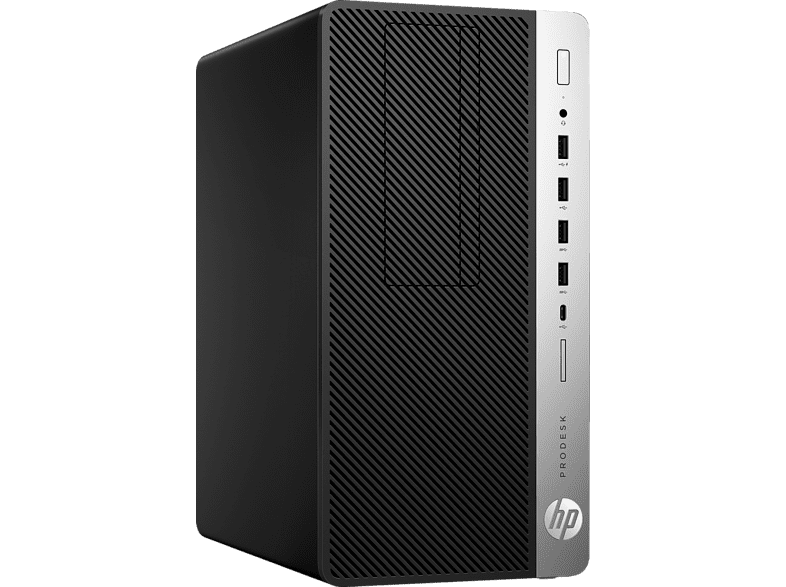HP ProDesk 600 G4 Microtower-PC, Business PC, Core™ i5 Prozessor, 8 GB RAM, 256 GB SSD, Intel® UHD Graphics 630, Schwarz/Silber