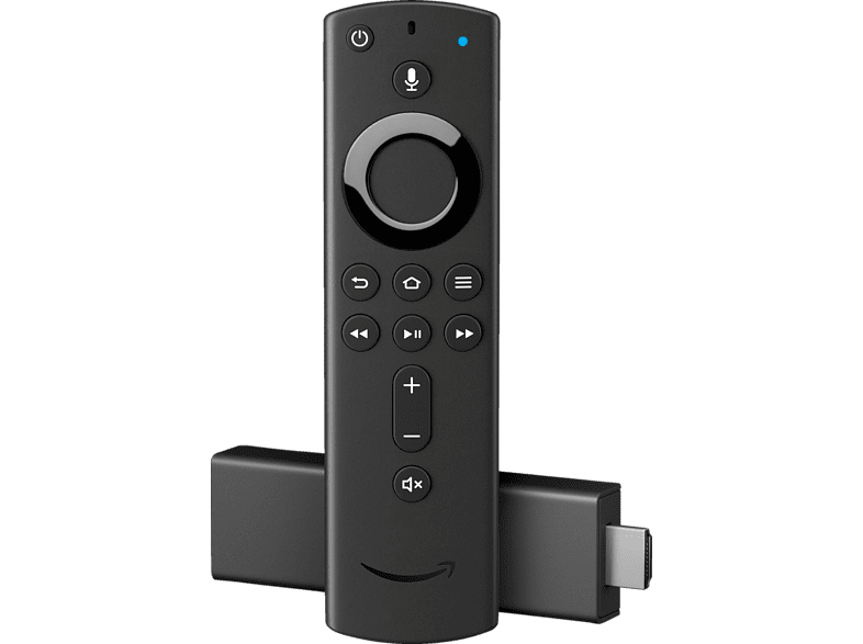 AMAZON Fire TV Stick 4K mit der neuen Alexa-Sprachfernbedienung Streaming Stick, Schwarz
