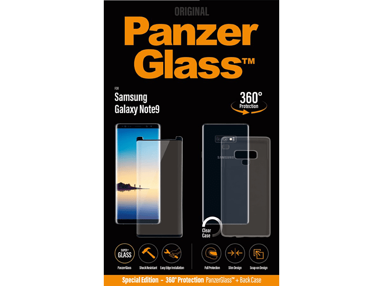 PANZERGLASS Casefriendly Bildschirmfolie (Samsung Galaxy Note9)