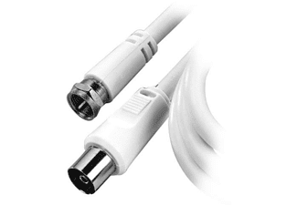 Cable de vídeo - Vivanco 44081, 1 m, Blanco