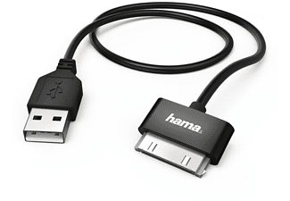 Cable USB - Hama 00093577 USB, Para iPhone, Negro