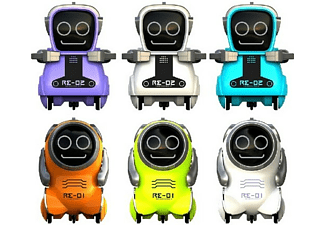 Robot - World Brands Robot Pokibot, LED, Color aleatorio, 1 unidad