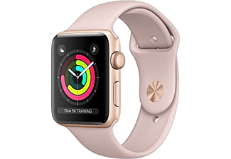 Smartwatch - Apple Watch Series 3, Pantalla OLED, 42mm, GPS, Altímetro, Caja de aluminio, Rosa