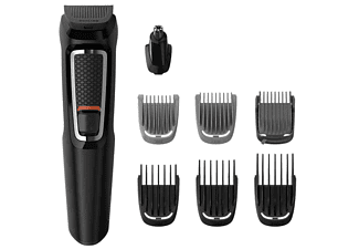 Afeitadora - Philips Multigroom Series 3000 MG3730/15, Multifunción, 8 accesorios, 60 minutos