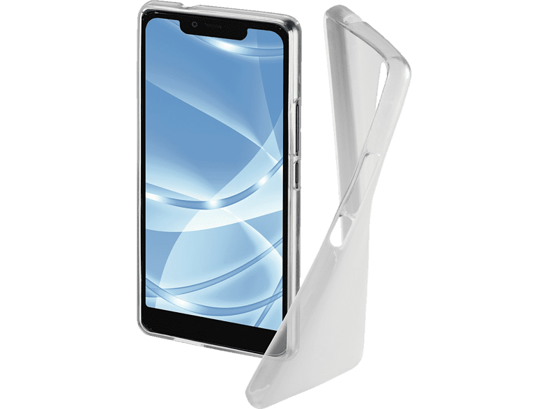HAMA Crystal Backcover Wiko View 2 Plus Thermoplastisches Polyurethan Transparent