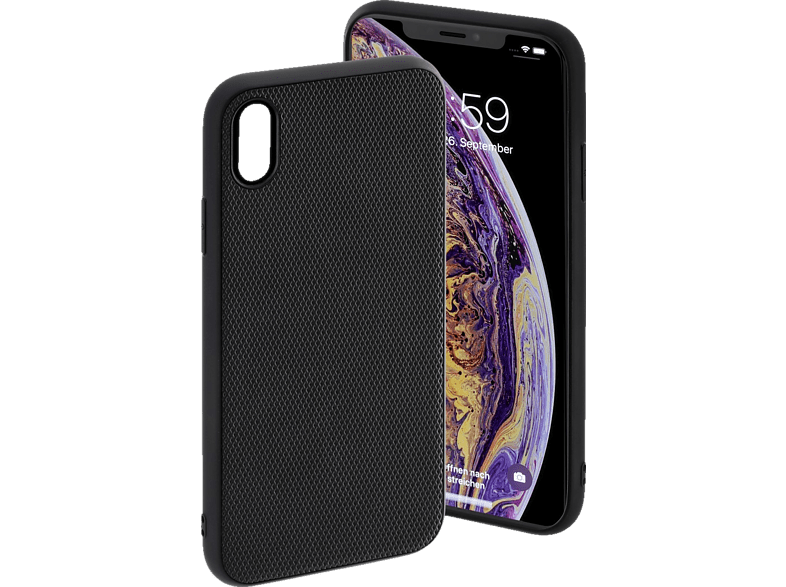 HAMA Rainbow Backcover Apple iPhone XS Max Polyurethan (PU)/Thermoplastisches Polyurethan (TPU) Schwarz