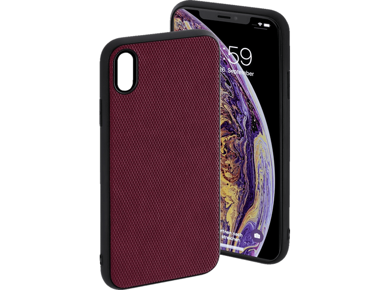 HAMA Rainbow Backcover Apple iPhone XS Max Polyurethan(PU)/Thermoplastisches Polyurethan (TPU) Dunkelrot
