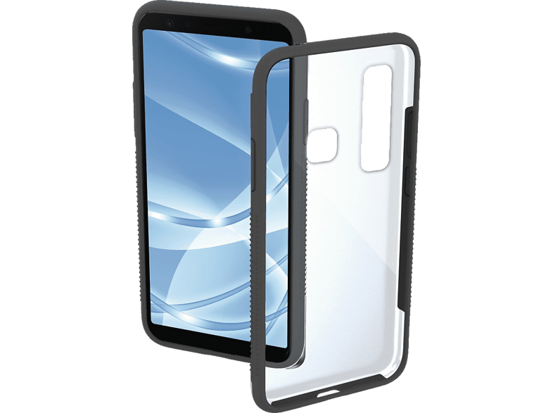 HAMA Frame Backcover Samsung Galaxy A9 (2018) Polycarbonat (PC)/Thermoplastisches Polyurethan (TPU) Grau/Transparent