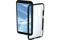 HAMA Frame , Backcover, Samsung, Galaxy A7 (2018), Polycarbonat/Thermoplastisches Polyurethan, Schwarz/Transparent