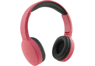 Auriculares inalámbricos - Ksix Go&Play Travel, 110 dB, Bluetooth, Plegables, Micrófono, Rosa