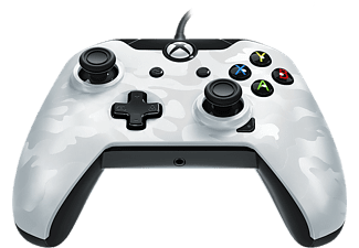 Mando - PDP Wired Controller, Xbox One, PC, Camuflaje Blanco