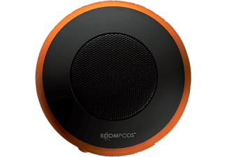 Altavoz inalámbrico - Boompods Aquapod, Shockproof, Waterproof, Bluetooth, 3 W, 60 dB, Naranja