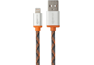 Cable Lightning a USB - Boompods, retrocable, 1m, MFI, Naranja