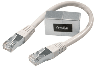 Vivanco CAT 5 network crossover adapter RJ45 RJ45 Plata adaptador de cable
