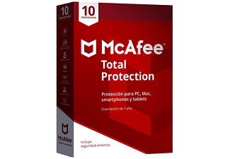 Antivirus - McAfee TOTAL PROTECTION 2018, 10 dispositivos, compatible con PCs, Smartphones y