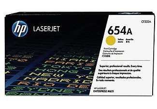 HEWLETT PACKARD CF332A 654AYELLOWLASERJETRIDGE
