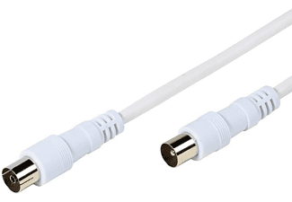 Cable antena - Vivanco 33724, 90dB, 1.5 metros, Blanco