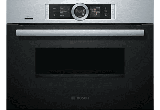 Horno - Bosch CNG6764S6, Compacto, Microondas, Home Connect, Assist, 45L, LED