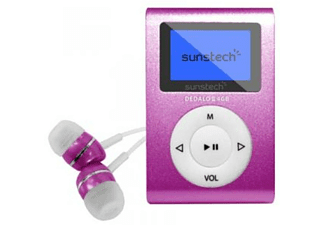 Reproductor MP3 - Sunstech Dedalo III, Rosa, 4GB, Radio FM