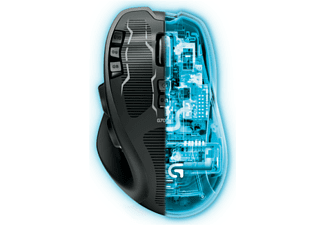 Ratón gaming - Logitech Rechargeable Gaming G700s 8200dpi, 13 botones programables