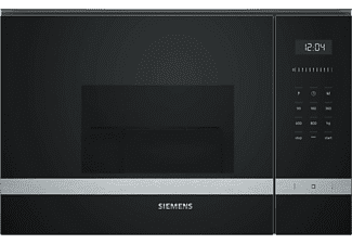 Microondas - Siemens BE525LMS0, Integrable, Grill 1000 W, 20 L, Reloj electrónico programable
